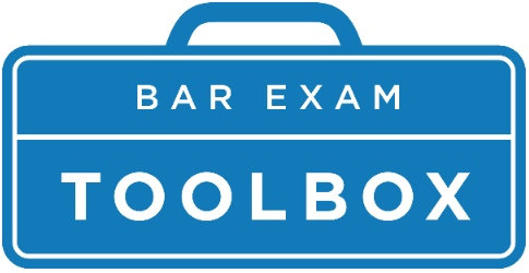 Bar Exam Toolbox