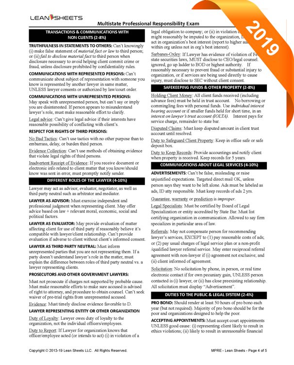 MPRE study guide MPRE outline MPRE attack outline MPRE review